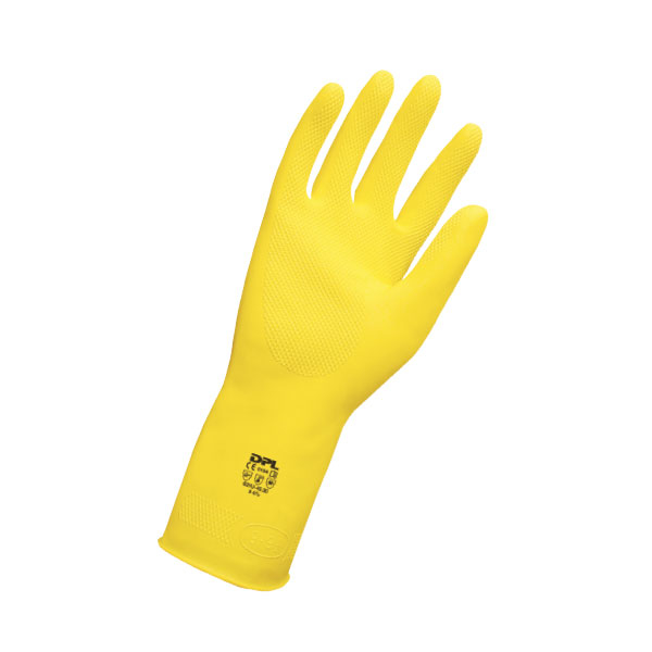 Guanti in lattice giallo resistente