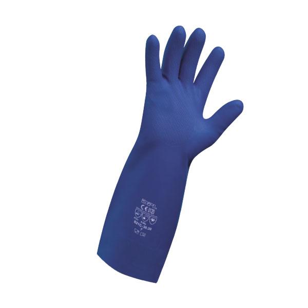 Guanti in nitrile blu riusabili